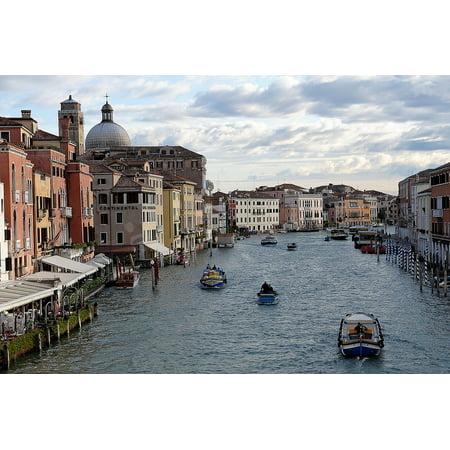 Canvas Print Localities Gondola Italy Venezia Waterway Venice Stretched Canvas 10 x 14 (Italian Gondola Driver)