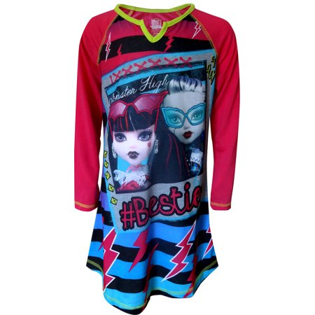 Monster Robe (Monster High & Ever After Girls' Nightgowns, Gowns, Sleepwear, Pink/Blue, Size: 10 )