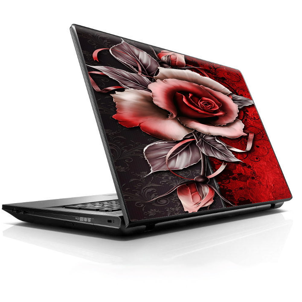 """Laptop Notebook Universal Skin Decal Fits 13.3"""" To 16"""" / Beautful Rose Design"""