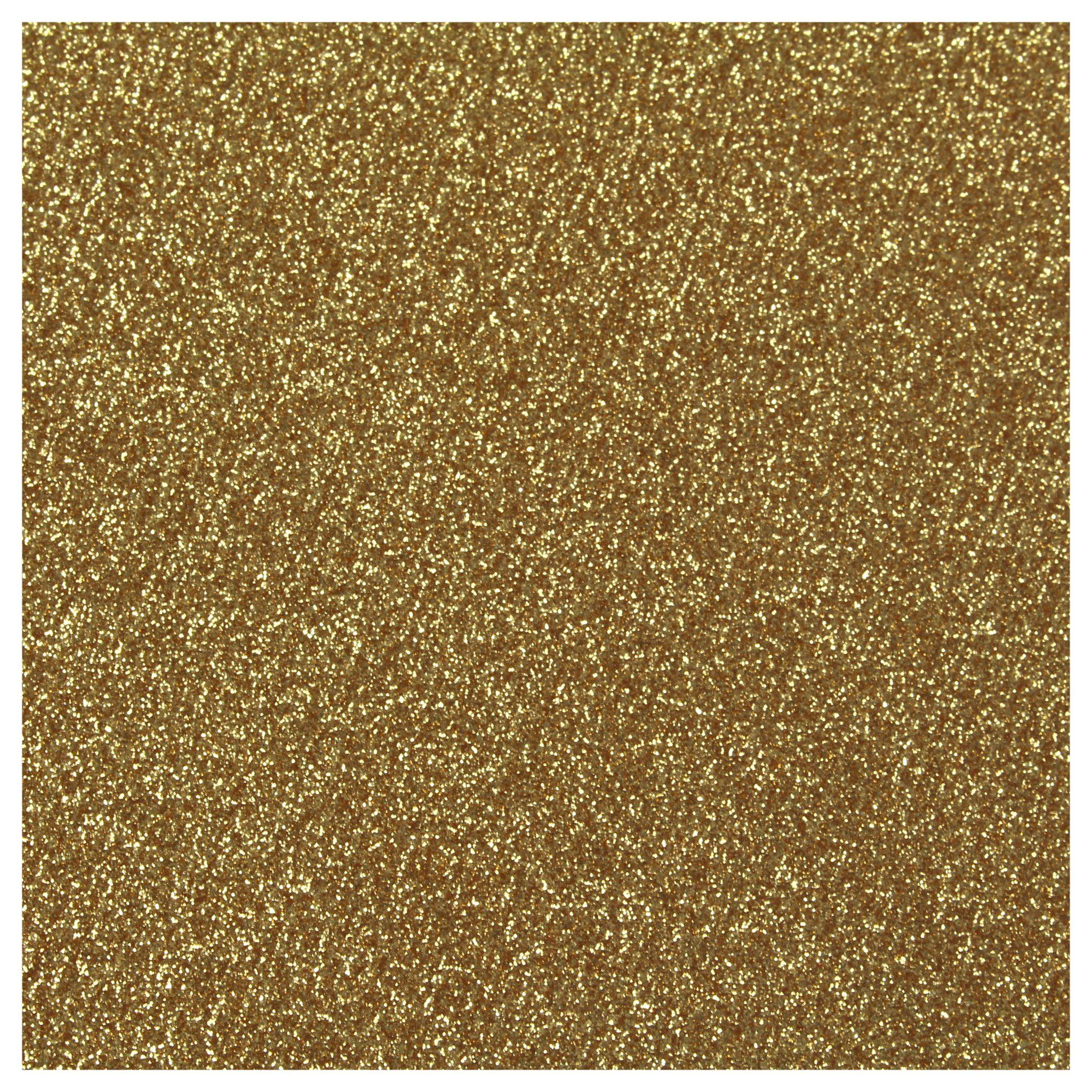 Siser Glitter Heat Transfer Material - Old Gold