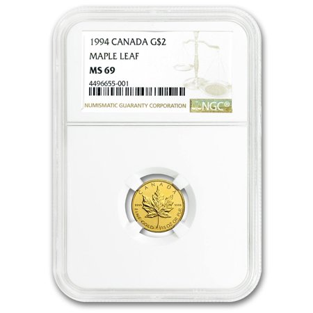 1994 Canada 1/15 oz Gold Maple Leaf MS-69 NGC
