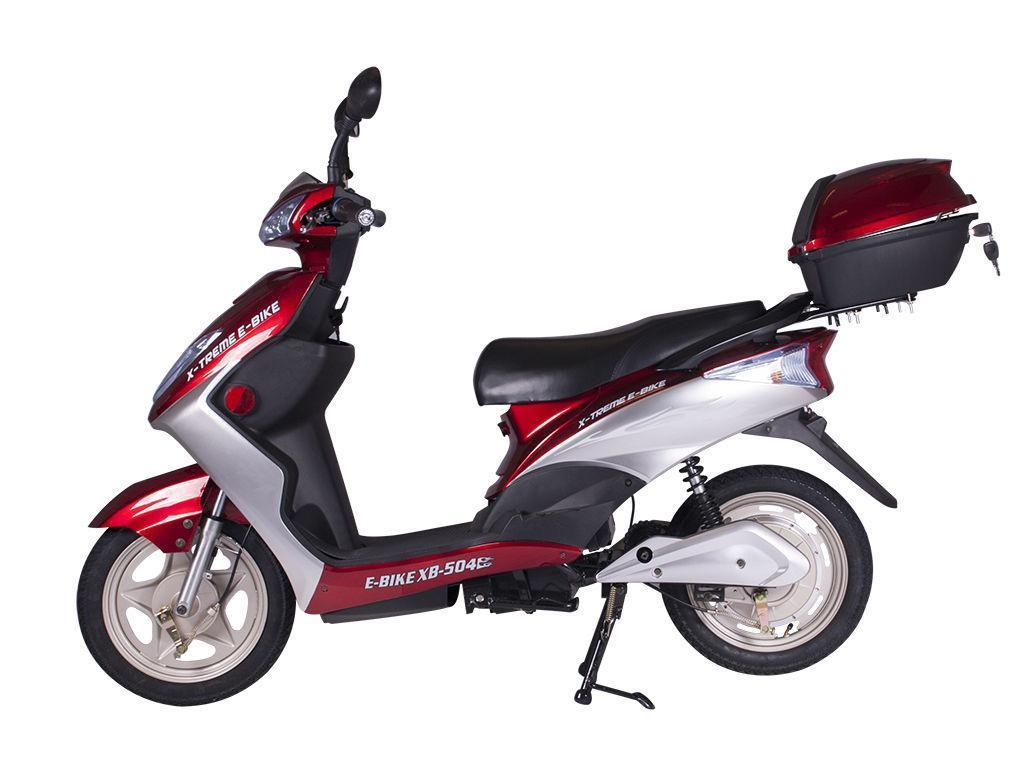Click here to buy X-Treme New XB-504 Electric Scooter 48V Rear Hub Power Assist Burgundy by Xtreme.