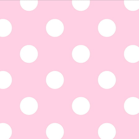 David Textiles Dots Anti-Pill Fleece 1.5-Yard Fabric Cut Breast Cancer Fleece Fabric