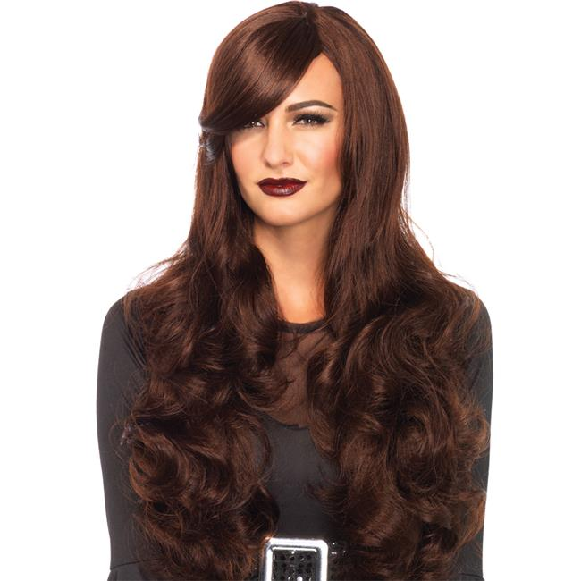 Morris Costumes UAA2722BN Long Wavy Brown Wig Costume
