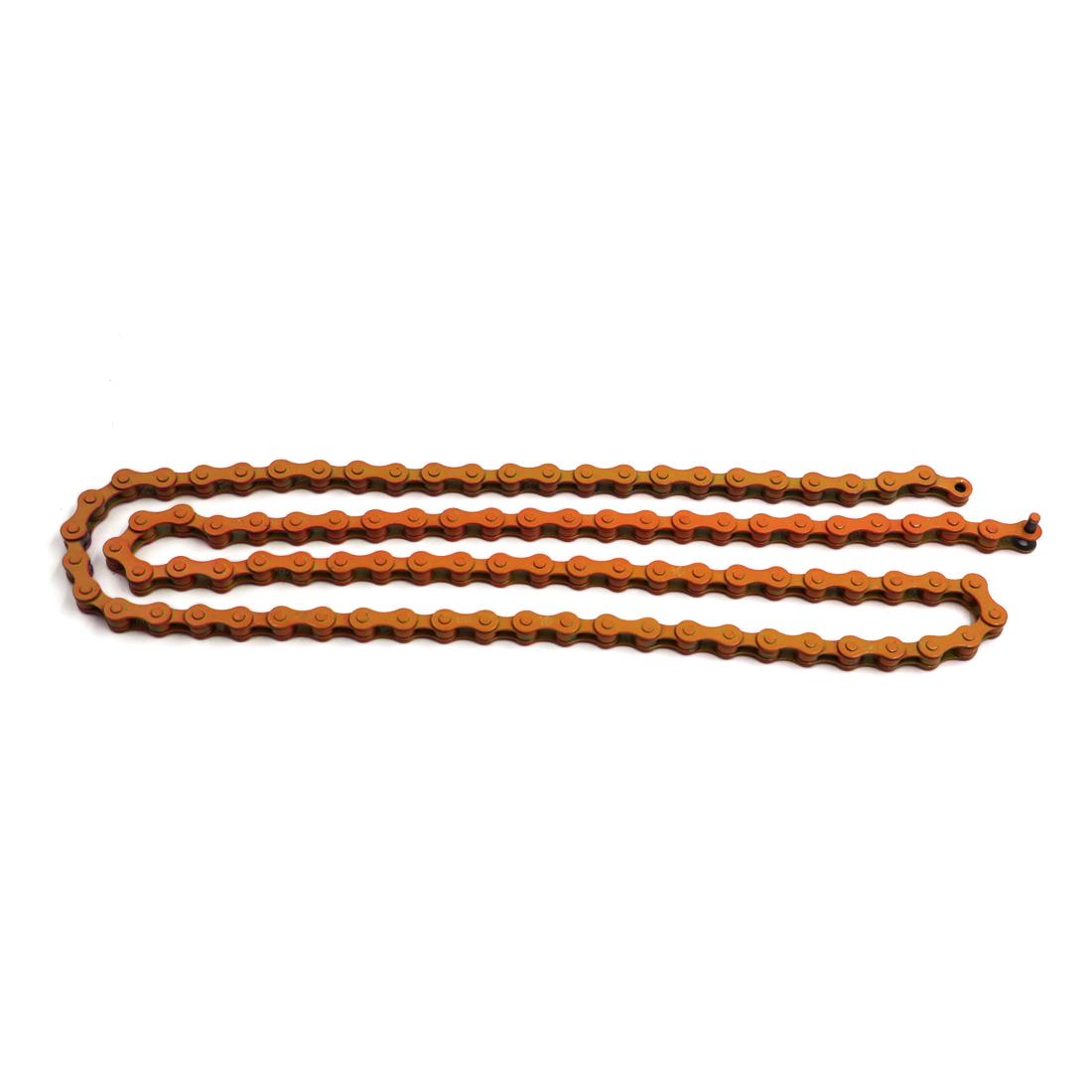 122cm Length 96 Links Speed Bike Bicycle Cycling Metal Chain Orange