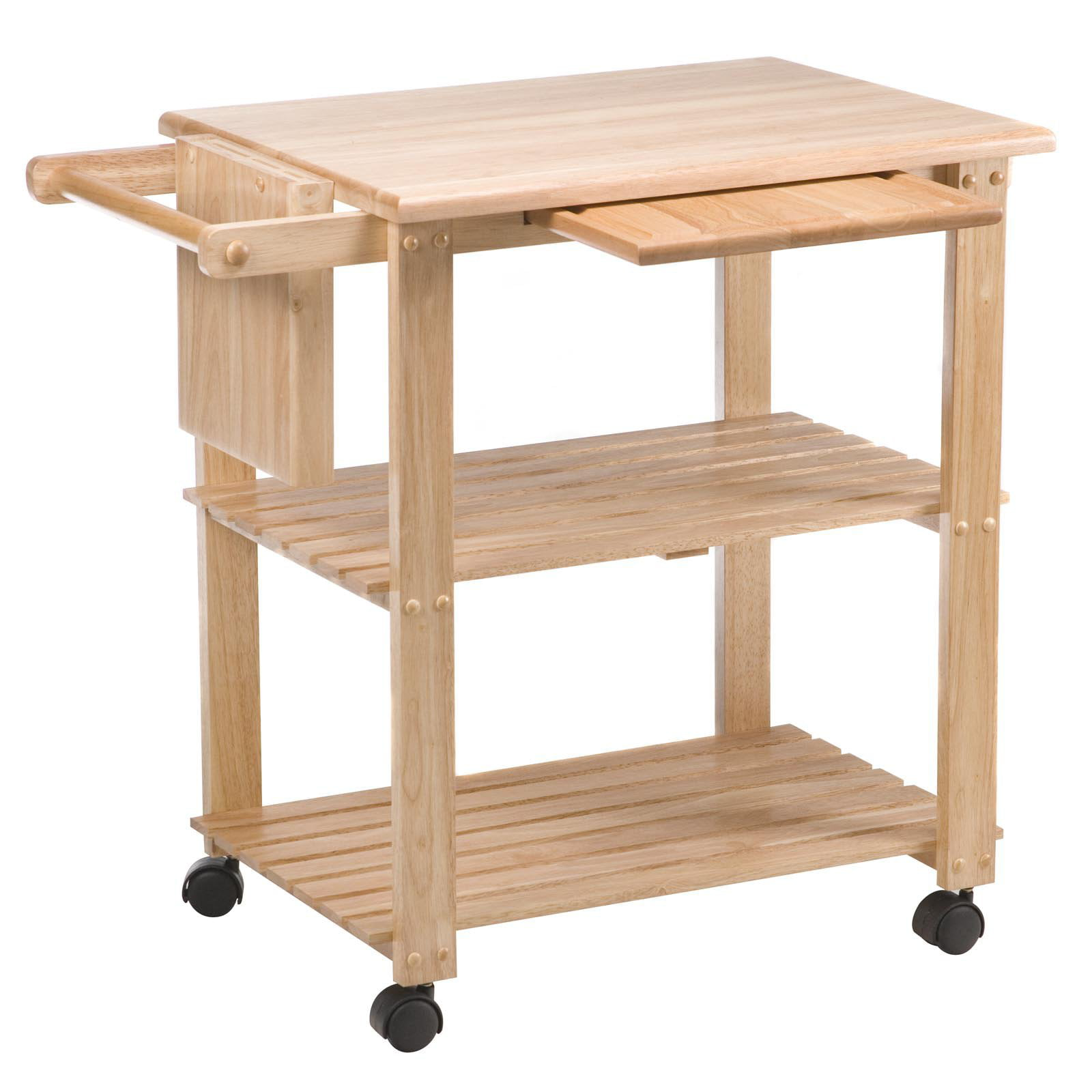 Superieur Kitchen Utility Cart, Solid Beechwood   Walmart.com