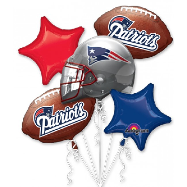 New England Patriots Team Football Helmet 5pc Foil Balloon Super Bowl Party Pack