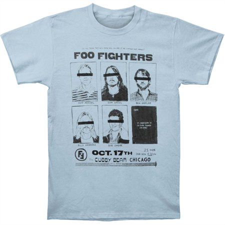 Foo Fighters Men's  Cubby Bear Chicago Mens Soft Slim Fit T-shirt