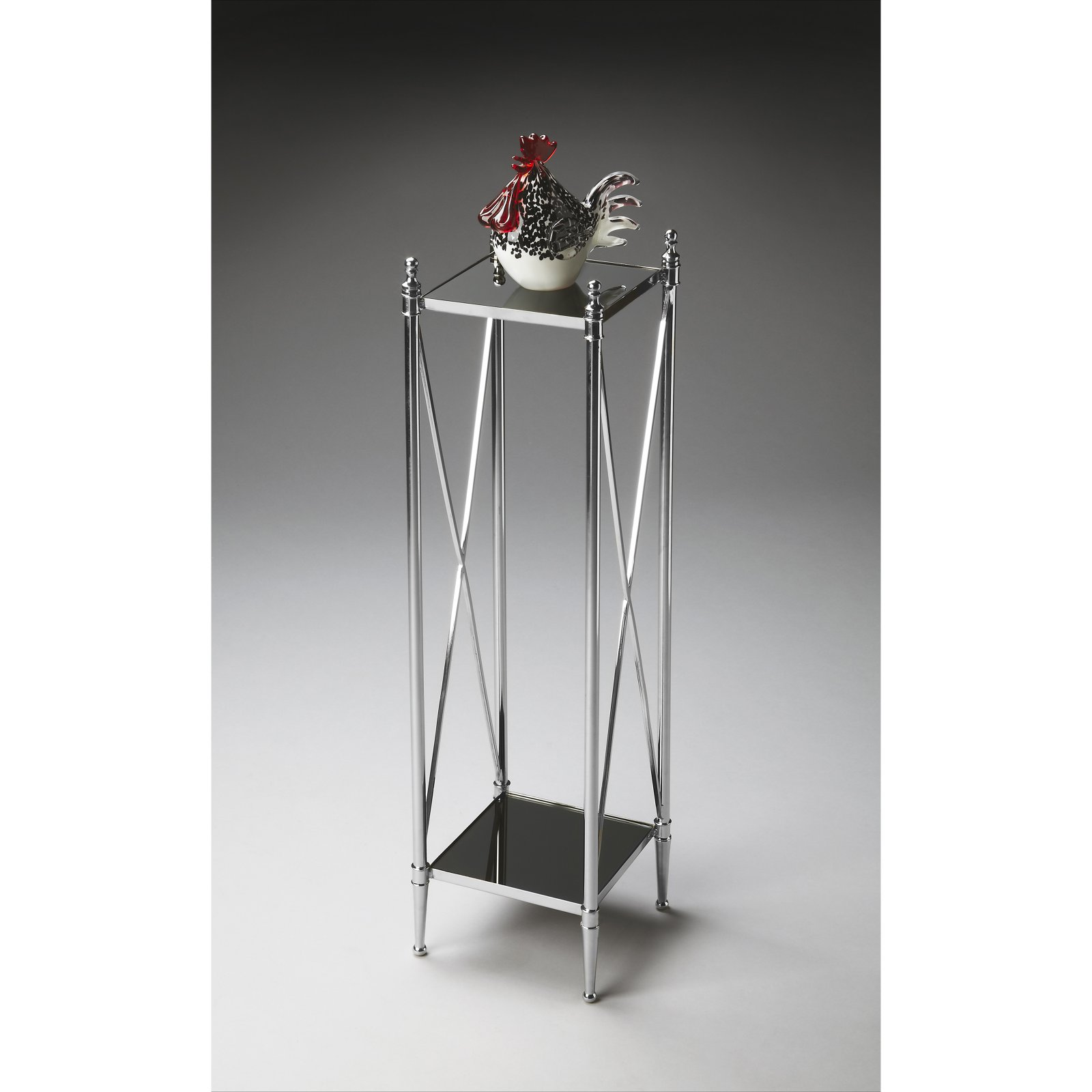 Butler Pedestal Plant Stand Nickel by Plant Stands