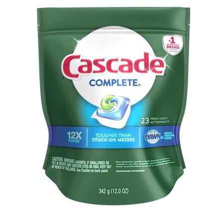 (Cascade Complete ActionPacs Dishwasher Detergent, Fresh, 23 count)