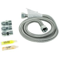 Certified Appliance Accessories 77300 Universal Gas Line Connector Kit, 4ft