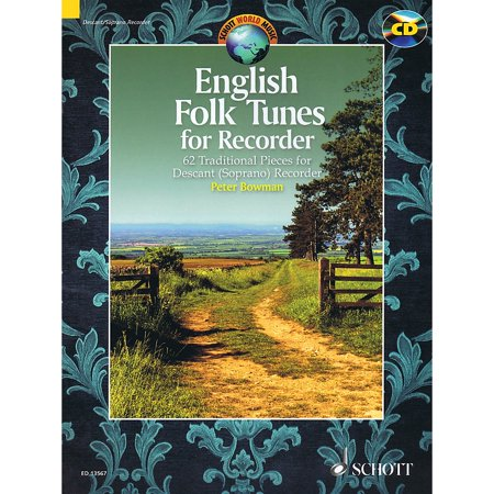 Schott English Folk Tunes for Recorder Woodwind Series Softcover with CD