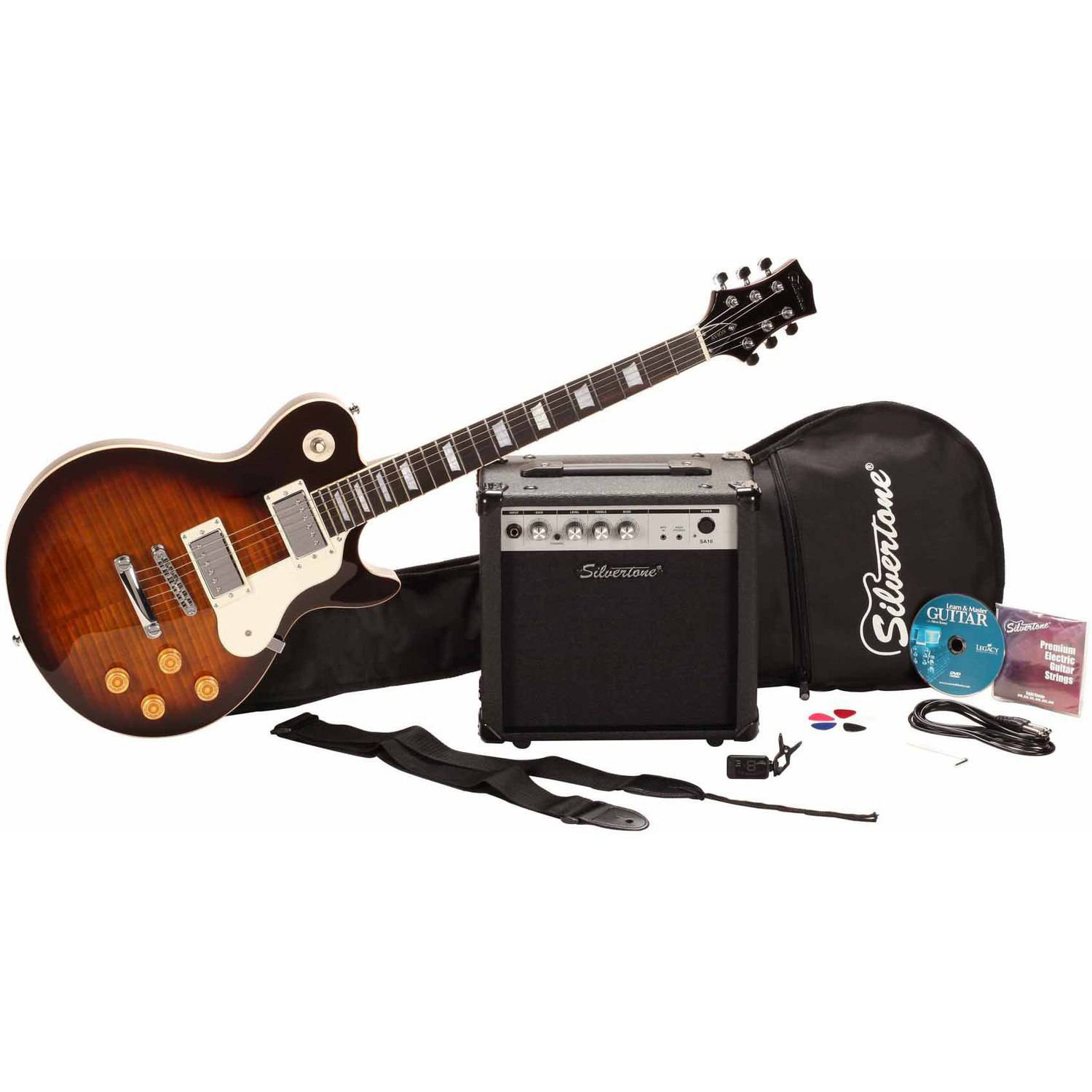 Silvertone Guitars SSL3 Electric Guitar Package