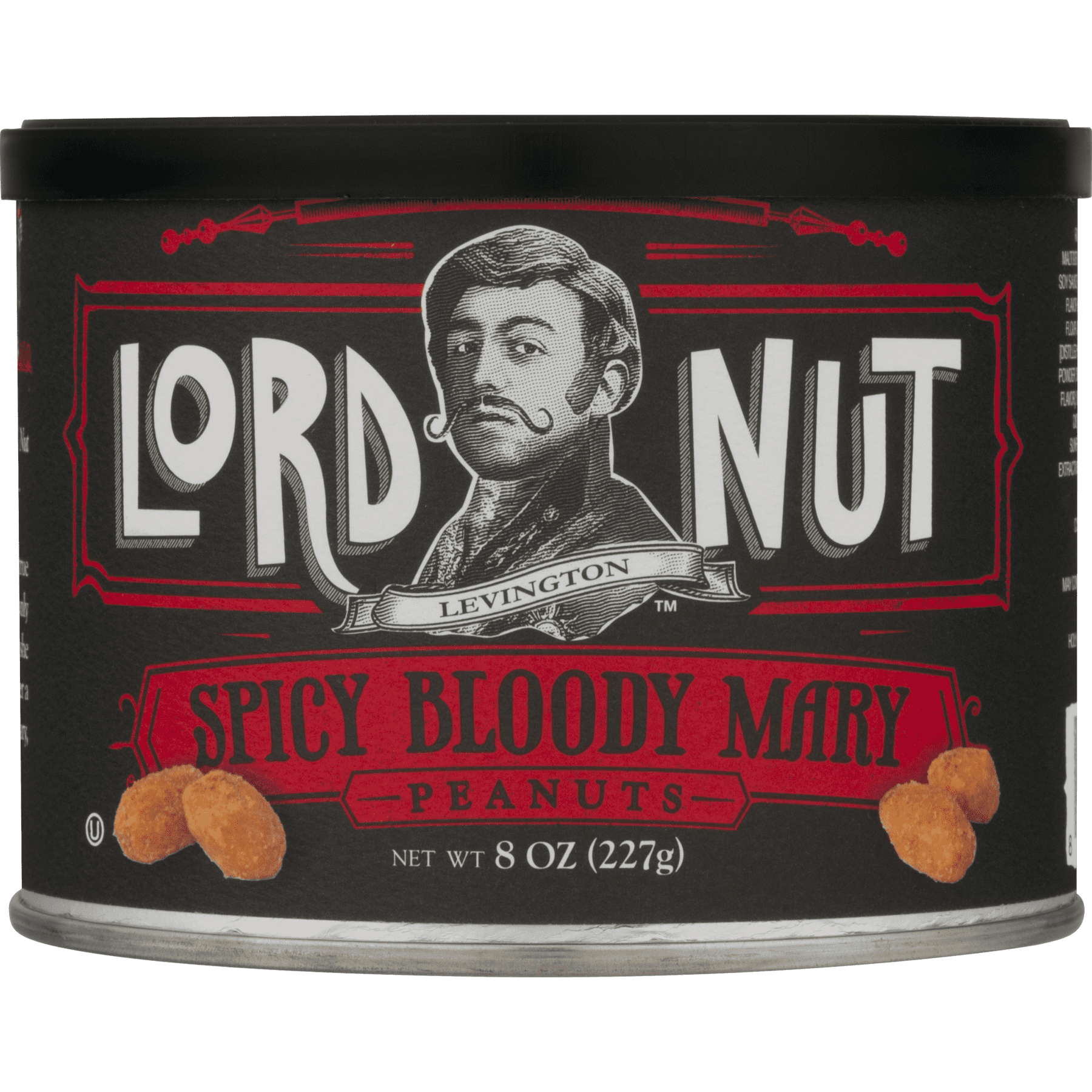 Lord Nut Levington Peanuts, Spicy Bloody Mary, 8-Ounce (Pack of 6 ...
