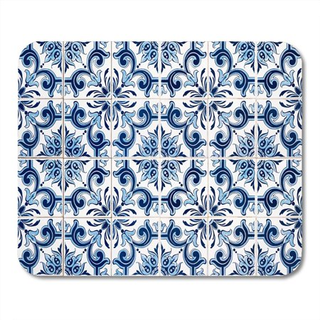 - KDAGR Pattern Closeup Detail of Old Portuguese Glazed Tiles Vintage Pottery Mousepad Mouse Pad Mouse Mat 9x10 inch