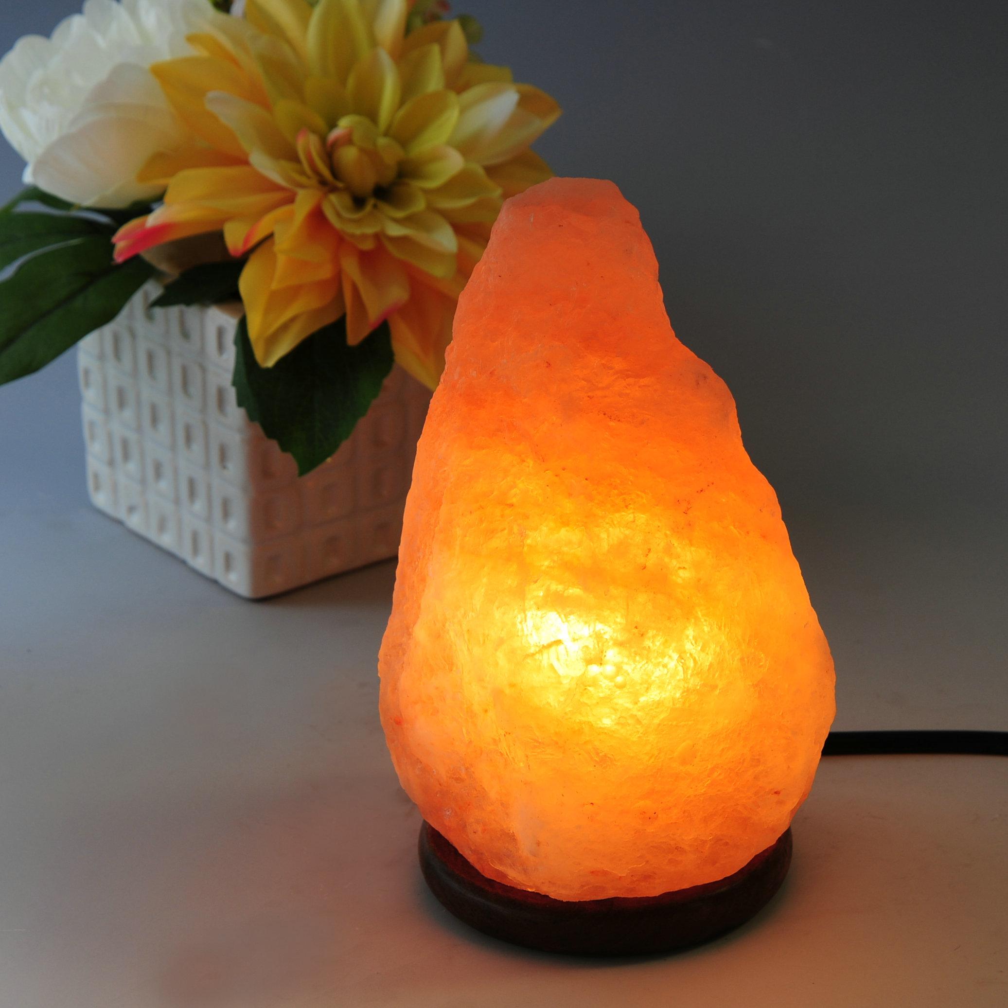 "JIC Gem 4.5-6.5LB, Around 8"" Natural Shape Himalayan Salt Lamp SL01, with Dimmer Cord"