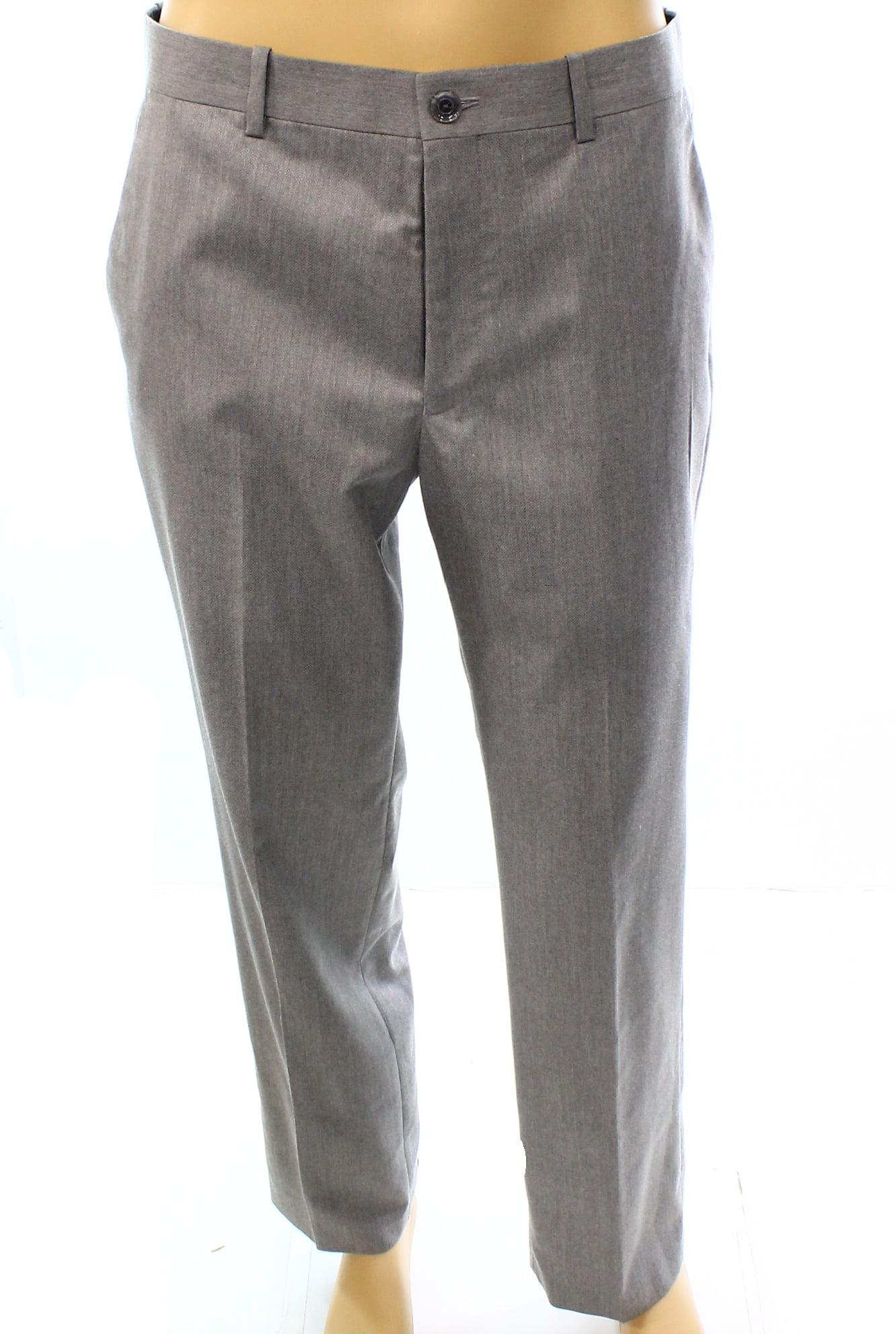 Alfani NEW Gray Light Mens Size 32X30 Regular Fit Flat Front Pants
