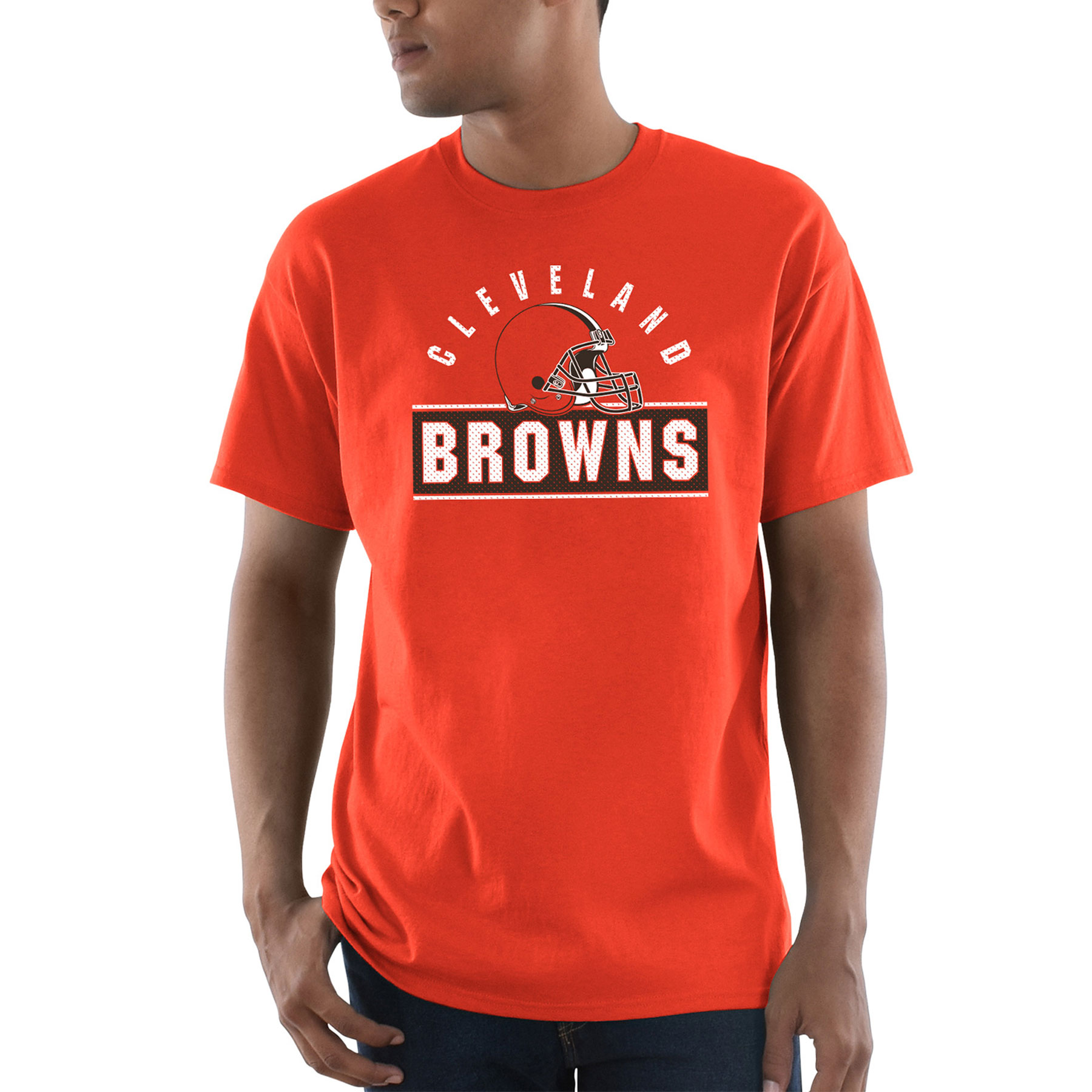 Cleveland Browns Majestic Maximized T-Shirt - Orange
