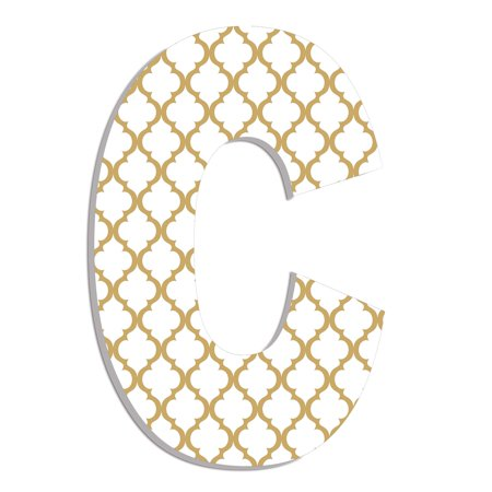 The Stupell Home Decor Collection Industries Oversized Gold Trellis Hanging Initial