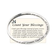Count Your Blessings Inspirational Words Bangle Bracelet