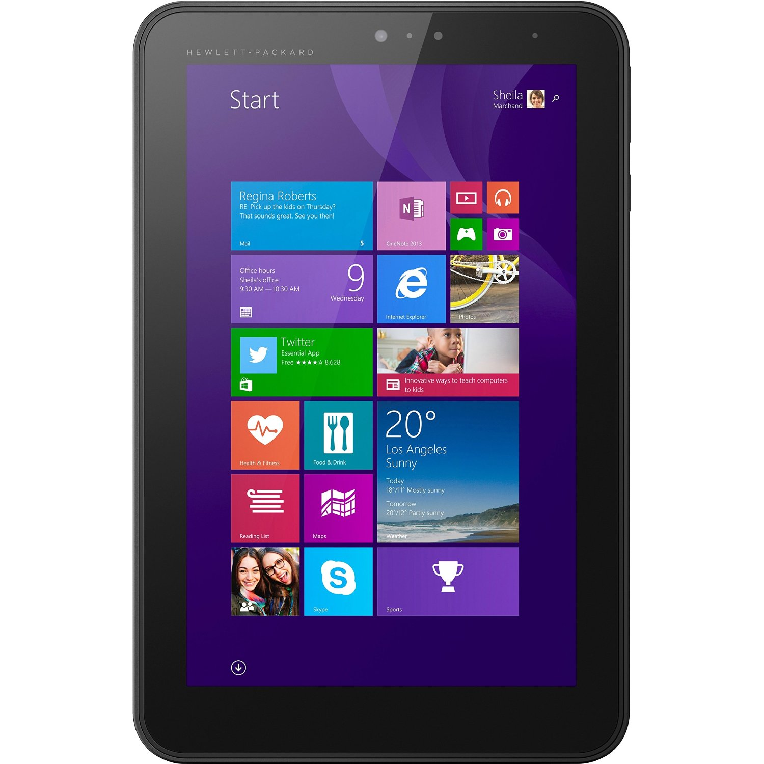 "Manufacturer Refurbished - HP Pro Tablet 408 G1 8"" Tablet Intel Z3736F 1.33GHz 2GB 32GB Win 8.1 Pro