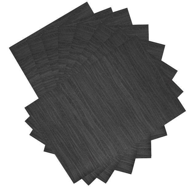 Dainty Home Forest Faux Leather with Suede Backing Set of 8 Placemats