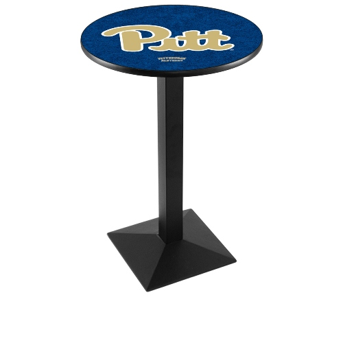 NCAA Pub Table by Holland Bar Stool, Black - Pittsburgh Panthers, 36'' - L217