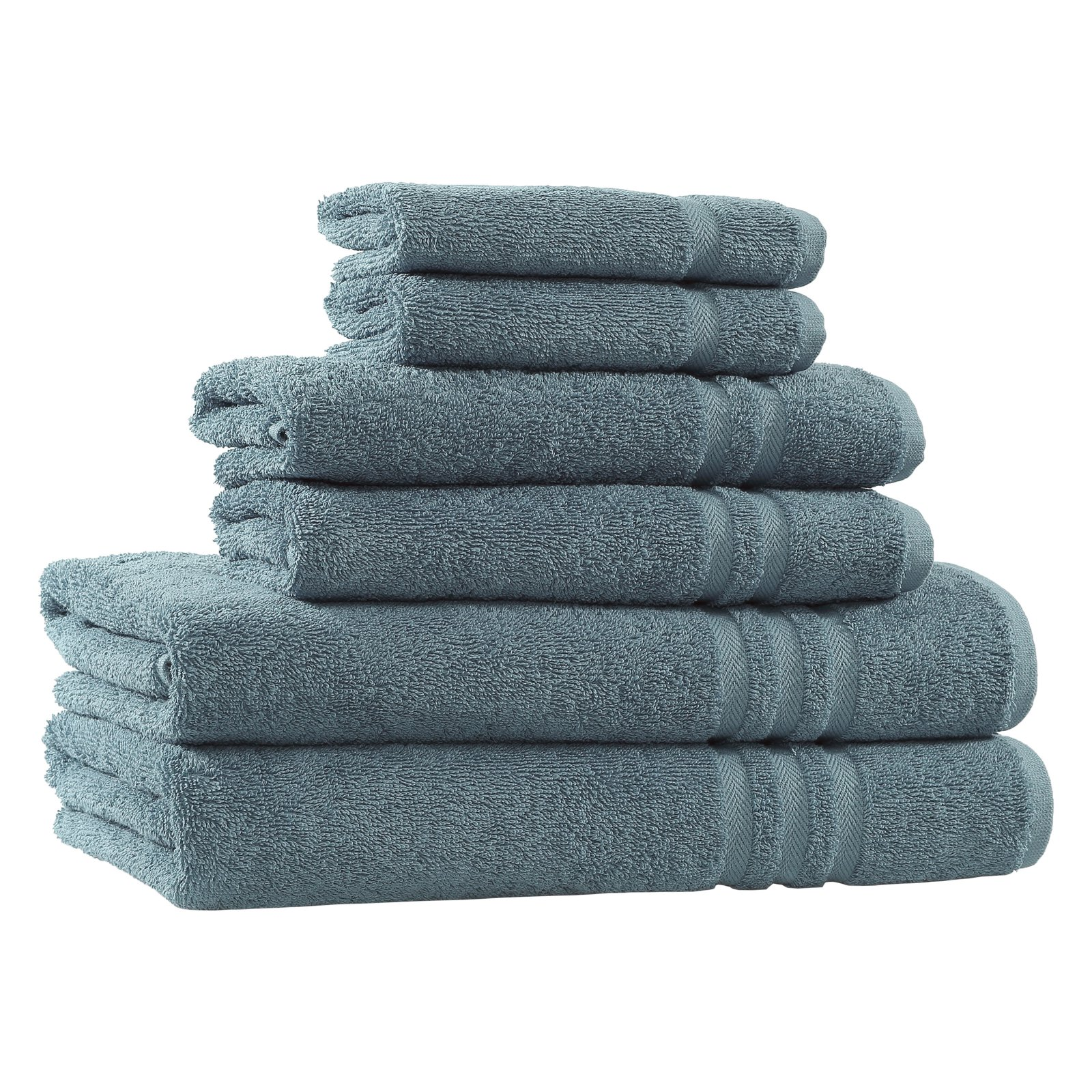 Denzi 6-Piece Turkish Cotton Towel Set