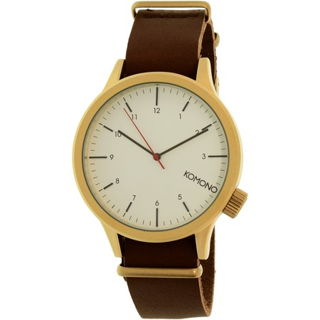Komono Men's Magnus KOM-W1931 Brown Leather Quartz Fashion Watch