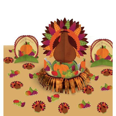 Thanksgiving Turkey Table Decorating Kit (Each) - Party Supplies - Thanksgiving Party Games