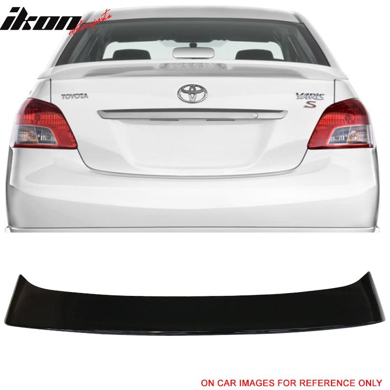 Compatible With 07 13 Toyota Yaris Sedan Oe Trunk Spoiler Led Painted 209 Black Sand Pearl Walmart Com Walmart Com