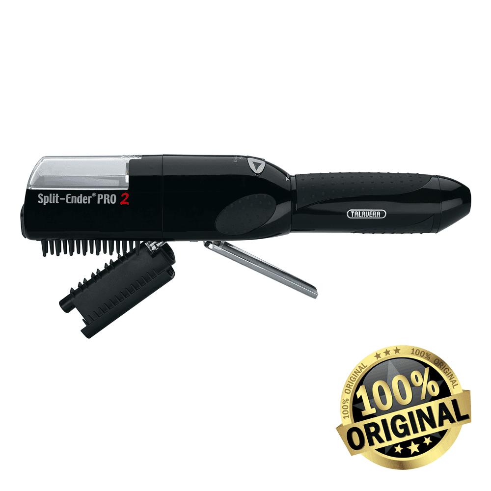 SPLIT-ENDER PRO2 BLACK by Talavera the Original Cordless Electric Automatic Damaged Dry Split End Hair Trimmer