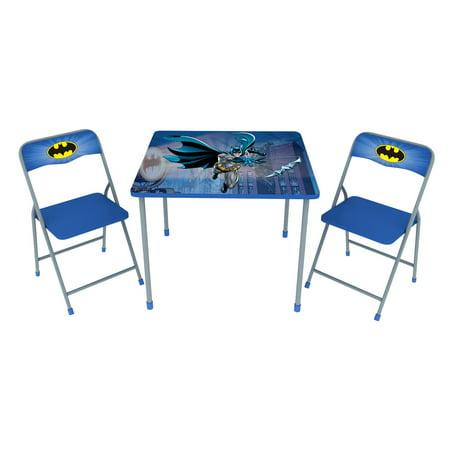 O'Kids Batman Children's Metal Table & Chair 3 Piece Set (Batman Table)