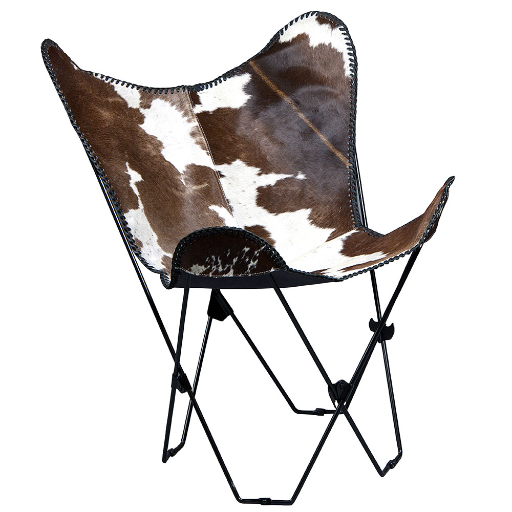 GENUINE LEATHER BUTTERFLY CHAIR FOLDING LOUNGE MODERN SLING ACCENT SEAT    Walmart.com
