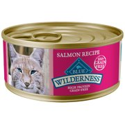 Blue Buffalo Wilderness Salmon High Protein Grain Free Wet Cat Food, 5.5 oz. Cans, 24 Pack
