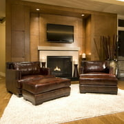 Davis Top Grain Leather Accent Chair - Set of 2