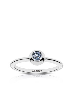 Us Navy - Us Navy Engraved White Sapphire Ring
