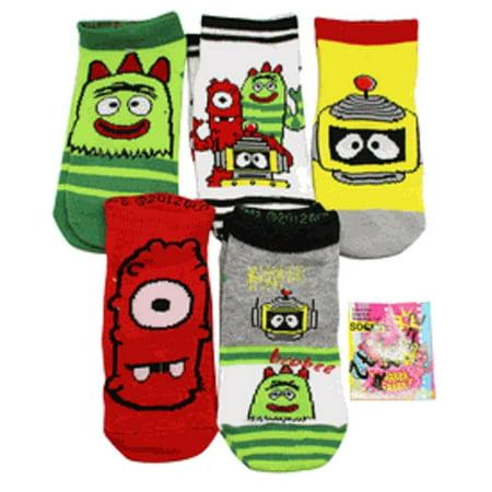 Yo Gabba Gabba Assorted Character Socks (Shoe Size 7-10 Toddler, 3
