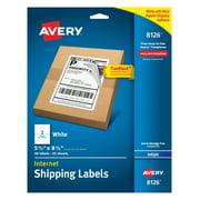 "Avery TrueBlock Shipping Labels, 5-1/2"" x 8-1/2"", 50 Labels (8126)"