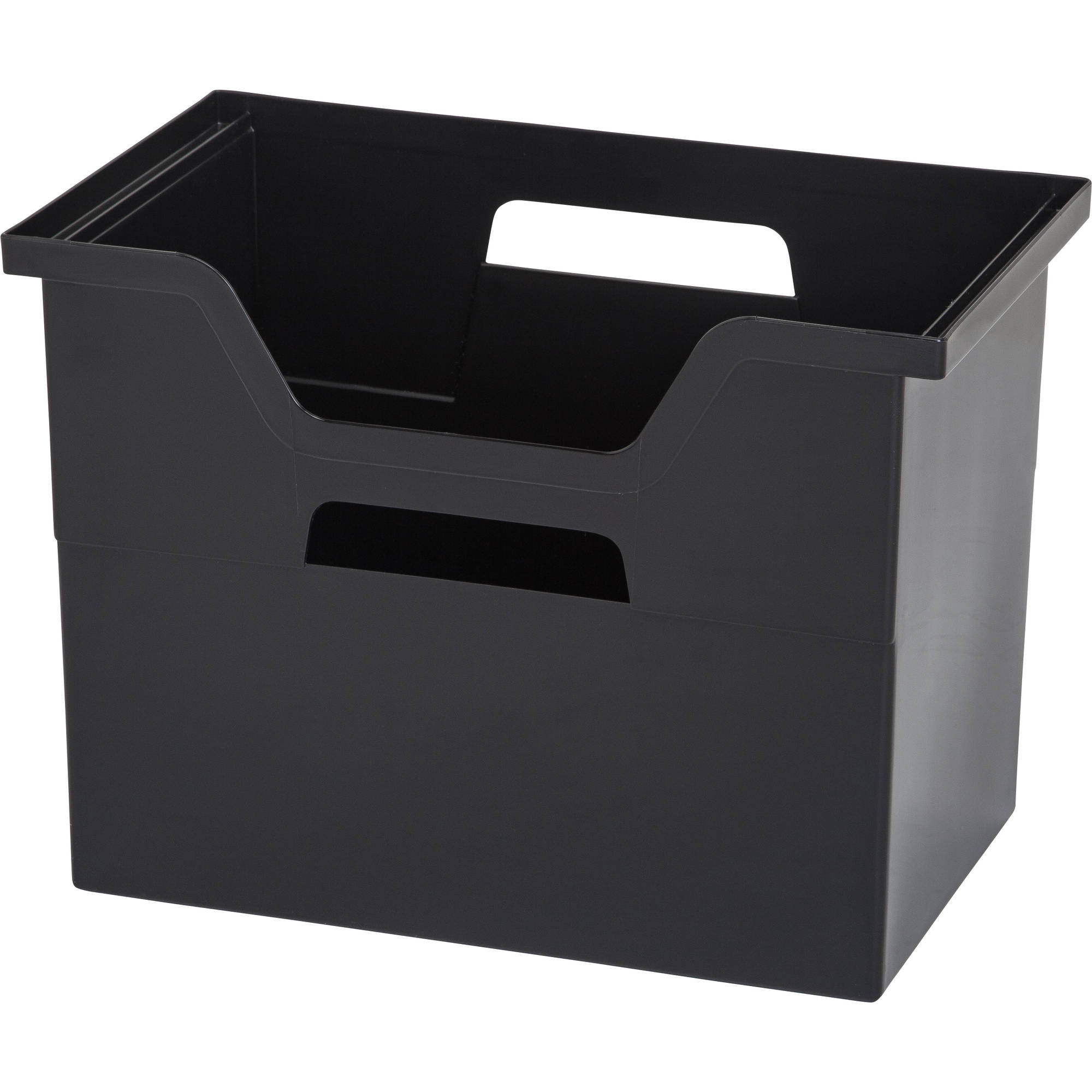 IRIS Large Desktop File Storage Box, Black Set Of 4