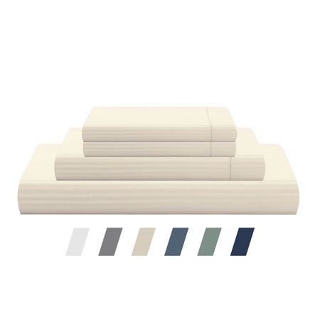 - Luxury Hotel Collection 500 TC - 100% Cotton Sateen Stripe Sheet Set - available in multiple colors