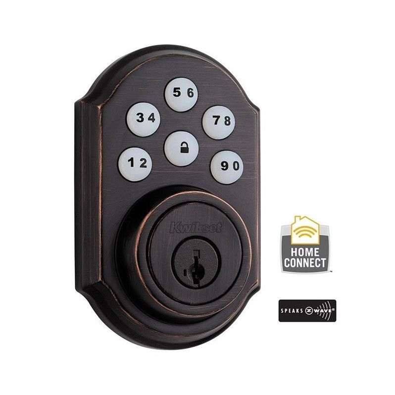 Kwikset 910TRL-ZW SmartCode Electronic Deadbolt with Z-Wave Technology