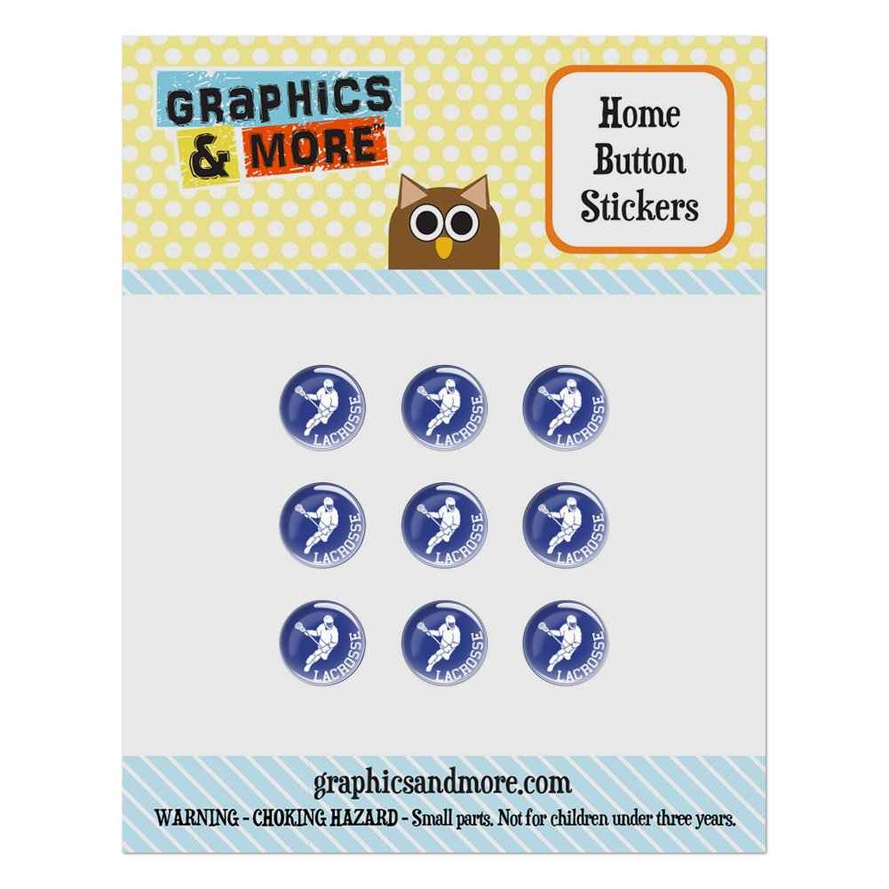 Lacrosse Sport Home Button Stickers Set Fit Apple iPhone iPad iPod Touch