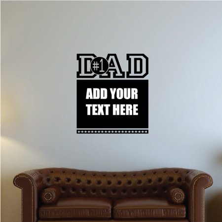 1 dad custom text wall decal - vinyl decal - car decal - vd010 - 36