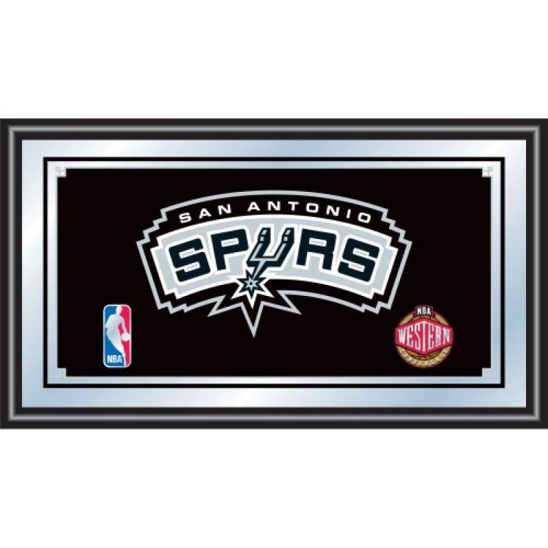 San Antonio Spurs NBA Framed Logo Mirror