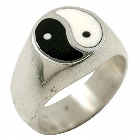 Inlayed Yin-Yang - Silver Ring