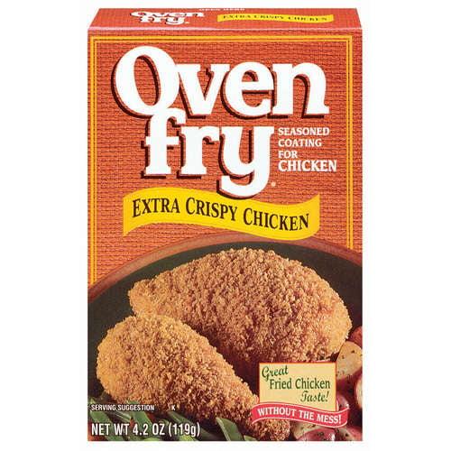 Oven Fry: Extra Crispy For Chicken Seasoned Coating, 4.2 Oz