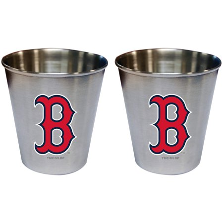 Boston Red Sox 2oz. Stainless Steel Collector Cups Two-Pack Set - No (Boston Red Sox Travel Mug)