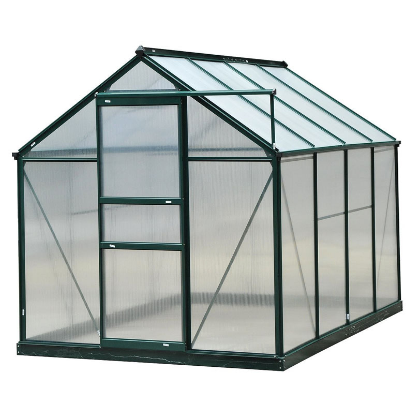 Outsunny Polycarbonate Portable Walk-In Garden Greenhouse by Aosom LLC
