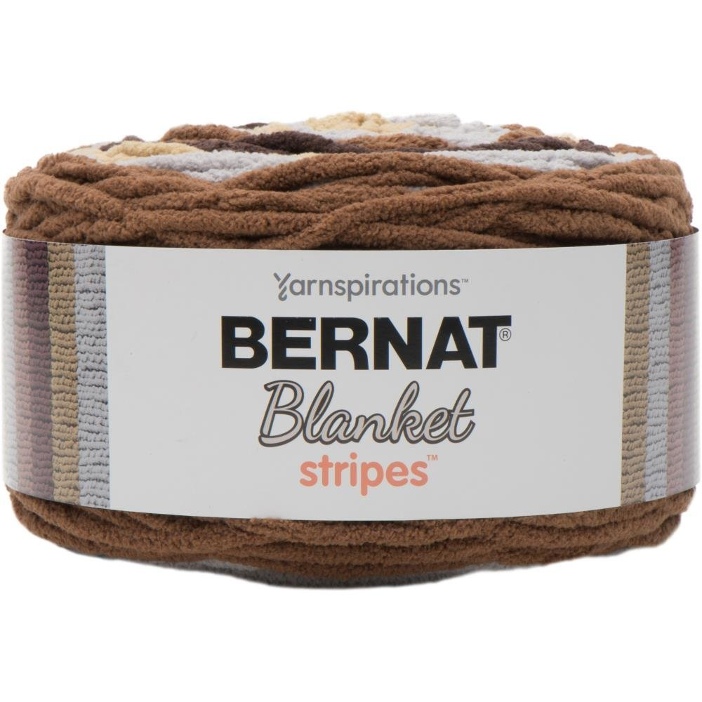 Bernat Blanket Stripes Yarn in Sand Dunes